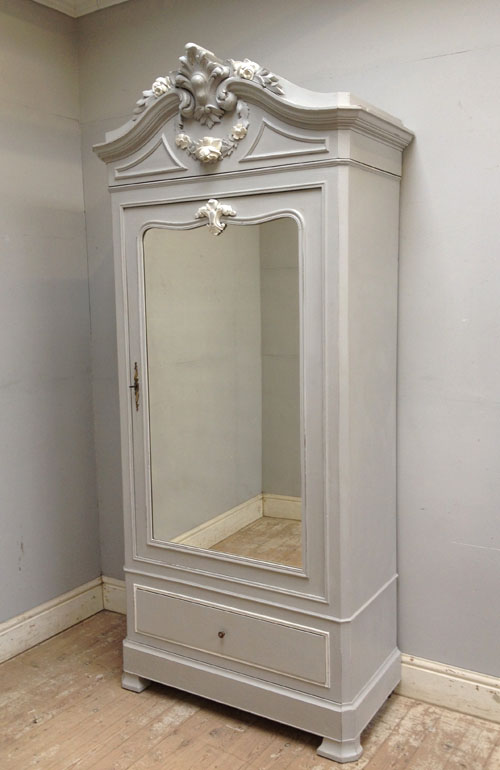 If3081 French Antique Single Door Armoire