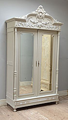 French antique armoire - 2 door Louis style