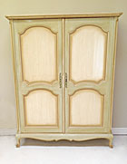 wonderful french painted double armoire