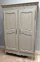 2 door old french louis xv style armoire