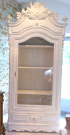 frenhc antique glazed armoire