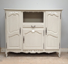 OLD FRENCH 3 DOOR ARMOIRE / LIVING UNIT