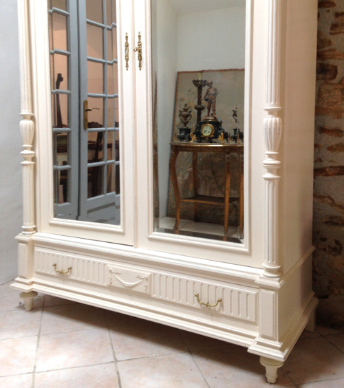 If3853 French Antique Henri Ii Armoire