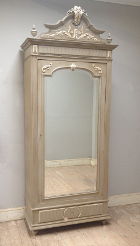 French Antique Single Door Armoire