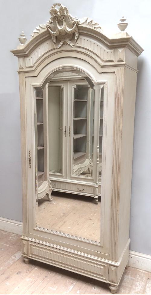 Genial French Antique Single Door Armoire