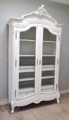french antique glazed armoire