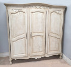 superb quality old french 3 door armoire