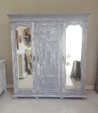 Large 3 door painted armoire
