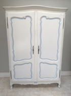 vintage french domed top double armoire