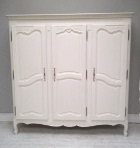 old french 3 door armoire