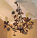 vintage french toleware chandelier