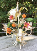small toleware chandelier - flowers
