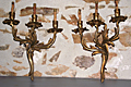pair of brass rococo wall sconces