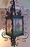 old french iron lantern
