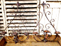 wonderful pair of iron wall sconces