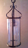 vintage french brass hall light