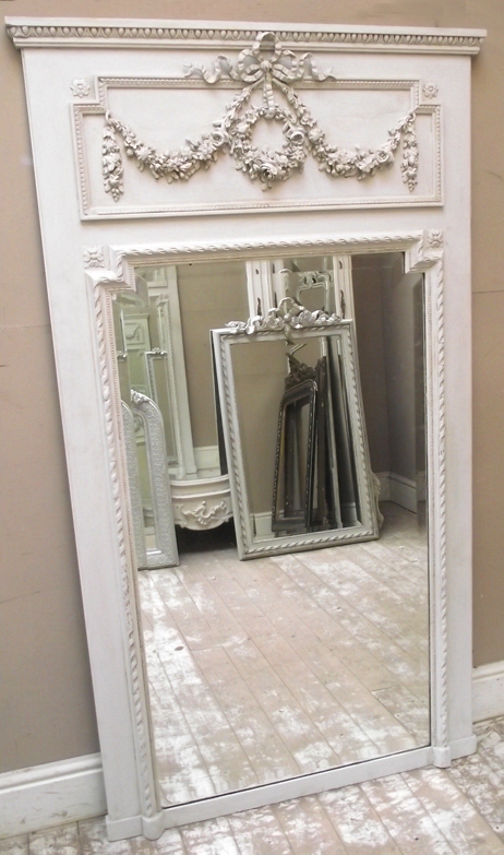 imw2583 stunning french antique trumeau mirror. Black Bedroom Furniture Sets. Home Design Ideas