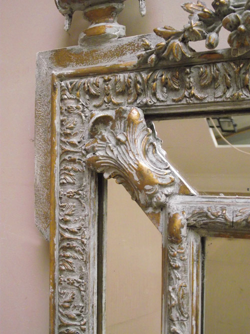 Imw2634 Stunning French Antique Cushion Mirror