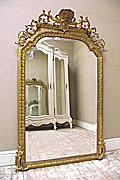 stunning large rococo crested mirror
