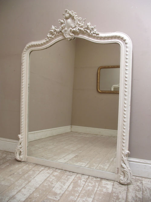 Imw2891 huge old french mirror for Big white wall mirror