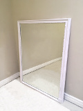 french antique simple overmantle mirror