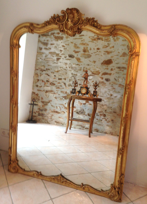 Imw3840 Lovely Antique French Mirror