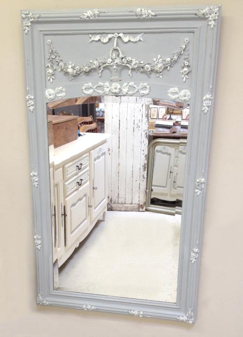 Imw3931 Beautiful French Antique Trumeau Mirror