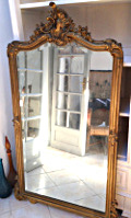 French Antique Rococo style mirror