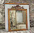 antique french priory mirror