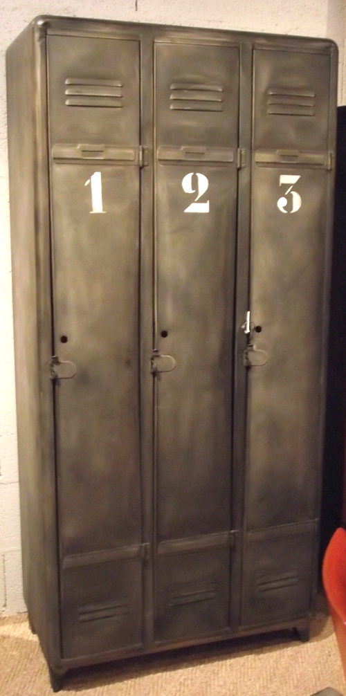 Vlb37 vintage polished steel lockers for Metal lockers ikea